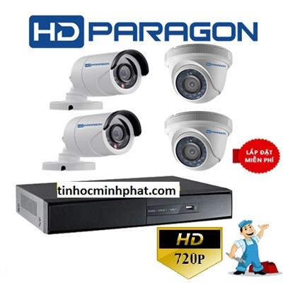 Trọn bộ 4 camera HD PARAGON 1.0MP